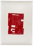Red Trinity Buoy - The Lizard 2011 by Robert Manners, Drawing, collage on german etch